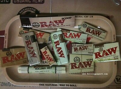 RAW ROLLING BUNDLE (13 items) TRAY, Papers, Tips, Roller, Cases, Magnify Card