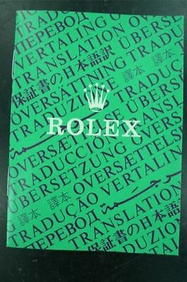 Rolex Translation Booklet In Nice Condition. 565.00 565.01 571.00 571.22