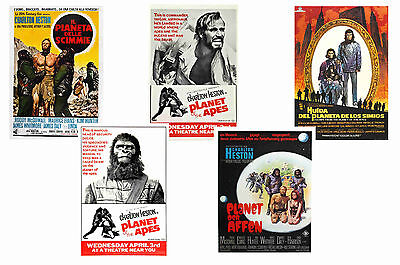 Planet Of The Apes Films - Set Of 5 - A4 Poster Prints # 3