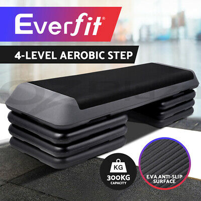 Aerobic Step Everfit Gym Fitness Workout Exercise Block 4 Level Bench Home