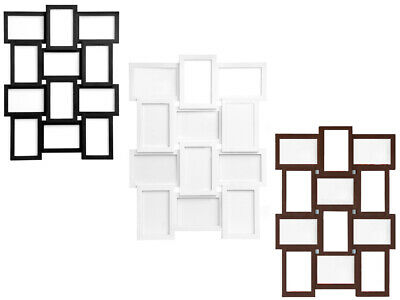 """12 PHOTO MULTI PICTURE FRAME APERTURE COLLAGE WALL PLASTIC GLASS FRAME 4 x 6"""""""