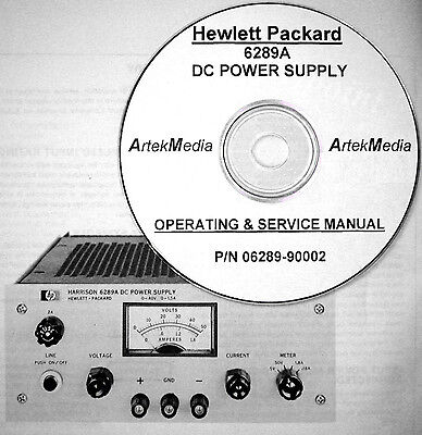 HP  6289A DC Power Supply  Operating & Service Manual