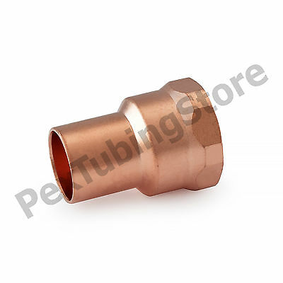 "1/2"" C x 1/2"" Female NPT Threaded Copper Adapter"