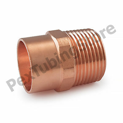 "1"" C x 1"" Male NPT Threaded Copper Adapter"