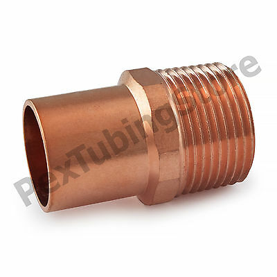 "1"" Ftg x 1"" Male NPT Threaded Street Copper Adapter"