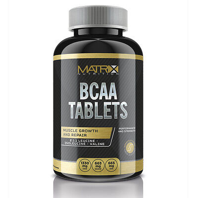 MATRIX NUTRITION BCAA's BRANCH CHAIN AMINO MUSCLE RECOVERY TABLETS - 120ct