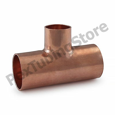 "(10) 3/4"" x 3/4"" x 1/2"" Copper Tees"