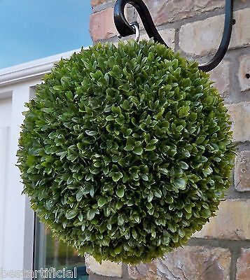 Best Artificial 28cm Olive Green Topiary Ball Basket alt Boxwood Buxus Grass New