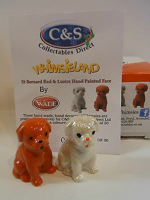 Wade WHIMSIE ST BERNARD RED AND LUSTRE HAND PAINTED FACE LE 30