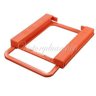 "2.5"" to 3.5"" SSD to HDD Screw-less Mounting Adapter Bracket Hard Drive Holder"