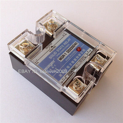 New Solid State Relay SSR DC-DC 40A 3-32VDC/5-220VDC 40A DD220D40 Control Relays