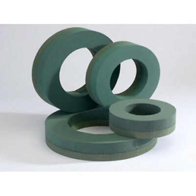 """12"""" FLORIST WREATH RING WITH FOAM BASE - WET FLORAL FOAM - PACK of 6"""