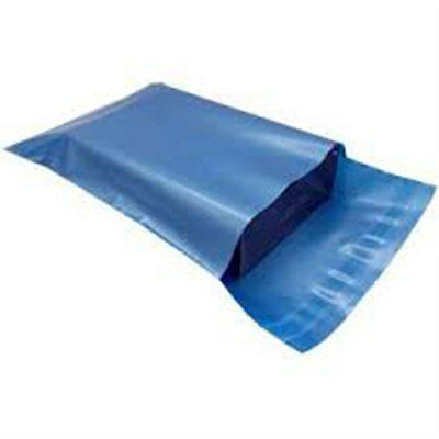 50 MIxed Blue Plastic Mailing Postal Bags Special Offer