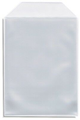50-Pak Clear CPP Plastic =DVD Sleeves= with Flap for 14mm DVD Box Arwork & Disc