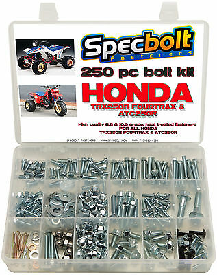 250pc Bolt kit Honda TRX 250R Fourtrax TRX250R Motor Plastic Exhaust ATC
