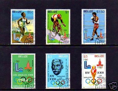 Belize - 1981 - Olympics - Cycling - Boxing - Running ++ Coubertin - Set Of 6!