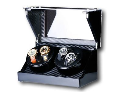 "Uhrenbeweger ""Screws"" 4 Uhren CARBON NEU Watch Winder °"