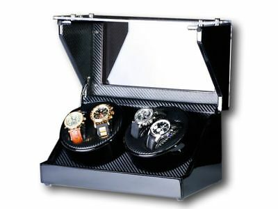 "Uhrenbeweger ""Screws"" 4 Uhren Carbon   Watch Winder"