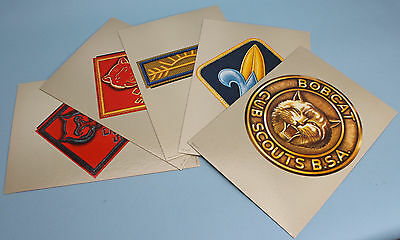 Cub Scout Insignia Color Poster Set of 5 in Original Paper Sleeve