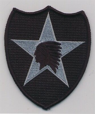 """4 1/2"""" US ARMY ACU Tactical 2nd Infantry Division Patch VELCRO® BRAND Hook Faste"""