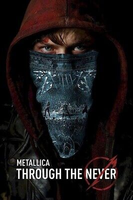 METALLICA ~ THROUGH THE NEVER ~ FULL COLOR 24x36 Music Poster ~ Movie