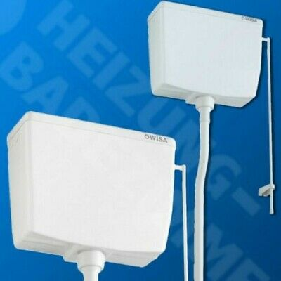 Wisa Surface mount Cistern 295 high hanging white