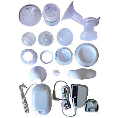 New Spare Parts Philips Avent Breast Pump SCF312/01 Valve Funnel Cover Bottles