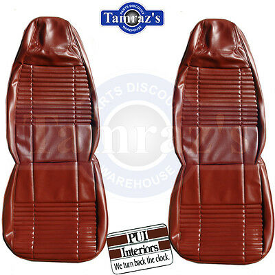 1970 Challenger Front & Rear Seat Covers Upholstery Solid - COLORS PUI New