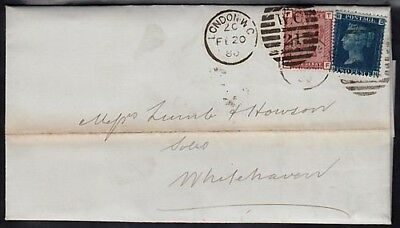 GB QV 1880 COVER WITH 2d. BLUE & 1d. VENETIAN RED NICE  (ID:281/D24310)
