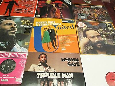 Marvin Gaye Wants Goin On Midnight Love Trouble Man I Want You Get It On 10 Lp's