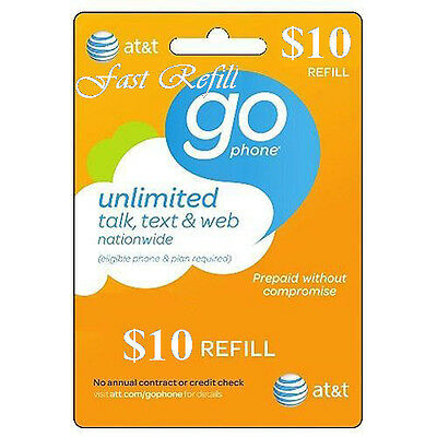 AT&T Refill Go phone $10 (US SELLER)