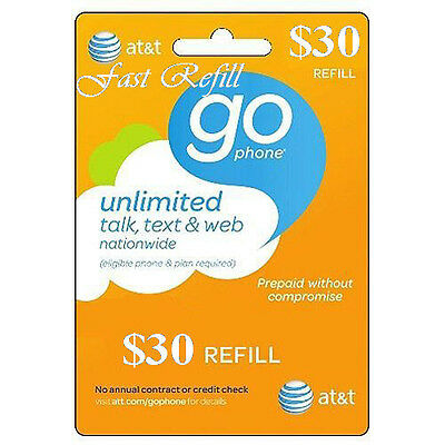 AT&T Refill Go phone $30 (US SELLER)