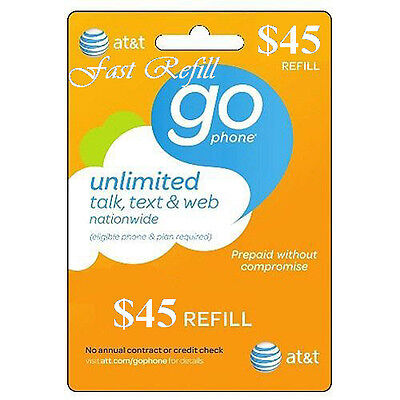 AT&T Refill Go phone $45 (US SELLER)