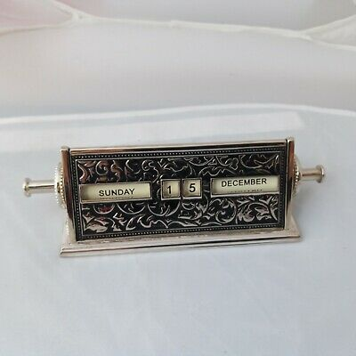 Perpetual Desk Calendar - a stylish accessory .always know the day and date .