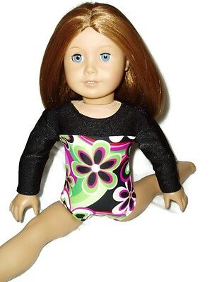 """Bright Flower Leotard 18/"""" doll clothes fits American Girl Gymnastic Ballet Dance"""