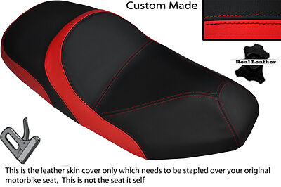 Black & Red Custom Fits Sym Joyride 125 200 Evo Dual Leather Seat Cover Only
