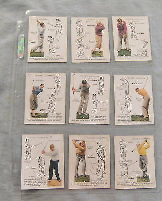 #t13.  1939 Scarce Set Of John Player Cigarette  Golf  Cards
