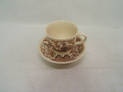 Alfred Meakin Fair Winds Sailors Fairwell New York Harbor Cup and Saucer England