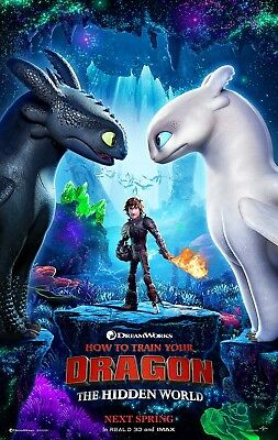 """HOW TO TRAIN YOUR DRAGON HIDDEN WORLD 2019 Advan DS 2 Sided 27X40"""" Movie Poster"""