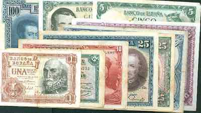 Spain Great Set-Lot 10 Different Notes. Fantastic Collection