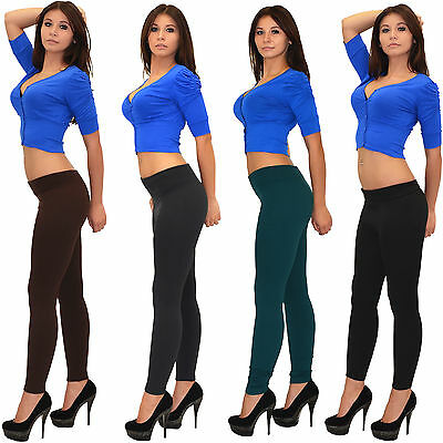 Thermo Leggings Winter Legging Leggins Hose Blickdicht in aktuellen Farben L05