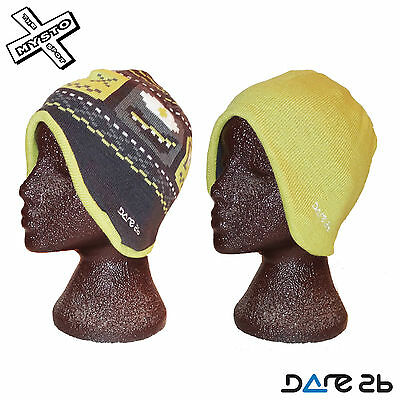 Dare2b Kids /'Flipside/' Grey and Green Winter and Ski Wear Reversible Beanie Hat.