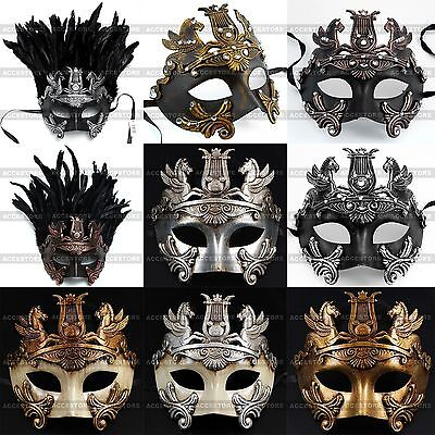 Perseus Warrior Mardi Gras Party Costume Venetian Masquerade Men's Ball Mask
