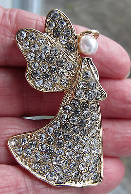 Jones New York Victorian Style Christmas Easter Angel Pin Brooch Religious