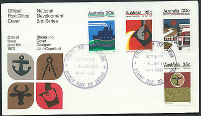 1973 Australia National Development Iron Ore Steel Mapping Beefs Shipping FDC **