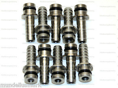 """10 New 1/4"""" Straight Stainless Steel Manifold Input Fittings Wunder-Bar Pm10-9"""