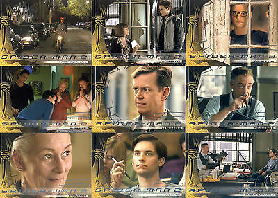 Spider-Man Movie 2 2004 Upper Deck Base Card & Motion Insert Set 70 + 3 Marvel