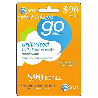 AT&T Refill Go phone $90 (US SELLER)