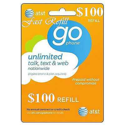 AT&T Refill Go phone $100 (US SELLER)