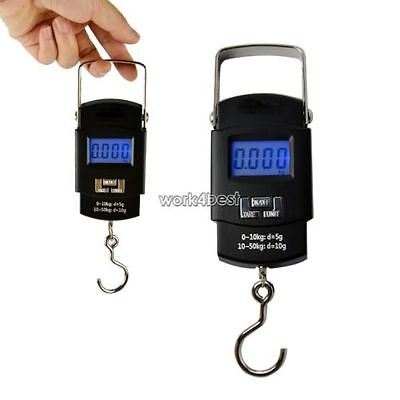 Mini Electronic Digital LCD Hand Hanging Luggage Kitchen Weight Hook Scale